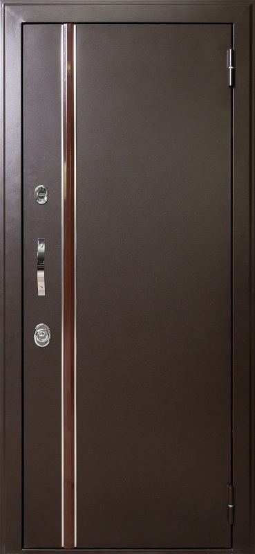 двери входные металлические коричневые